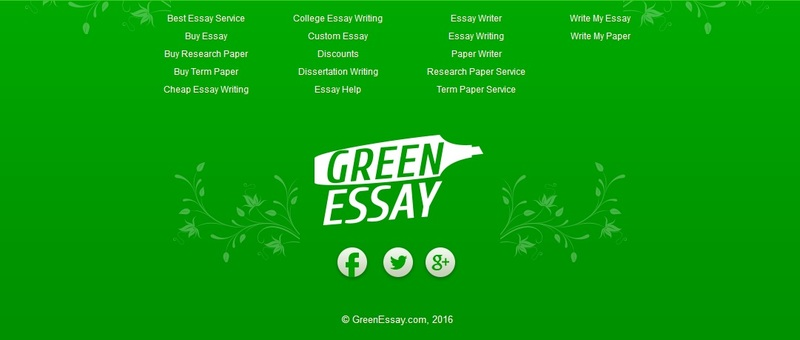 content greenessay services
