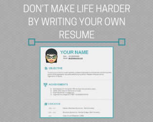 Content don t make life harder by writing your own resume