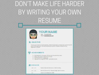 Push-Ups are Hard Enough – Don't Make Life Harder by Writing Your Own Resume Too